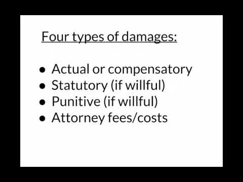 What damages can I get if I sue under the FCRA for false credit reporting?