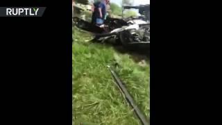 Видео с места падения военного вертолёта «Чёрный ястреб» на поле для гольфа в США(, 2017-04-18T08:04:40.000Z)