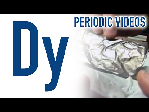Video image: Dysprosium - Periodic Table of Videos