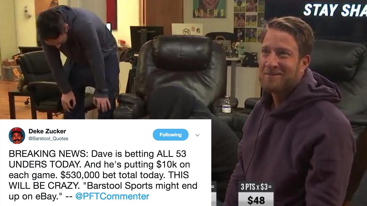 Dave Portnoy Bets $10,10 on One Day of College Basketball