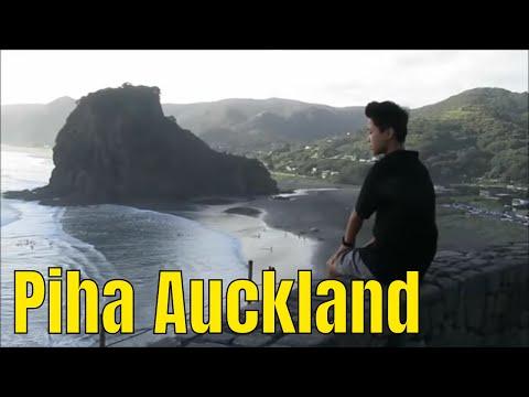Piha beach, Kitekite falls, Auckland, New Zealand