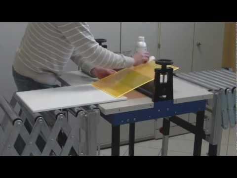 How to glue acrylic large areas HD * Flächenverklebung von Acrylglas HD