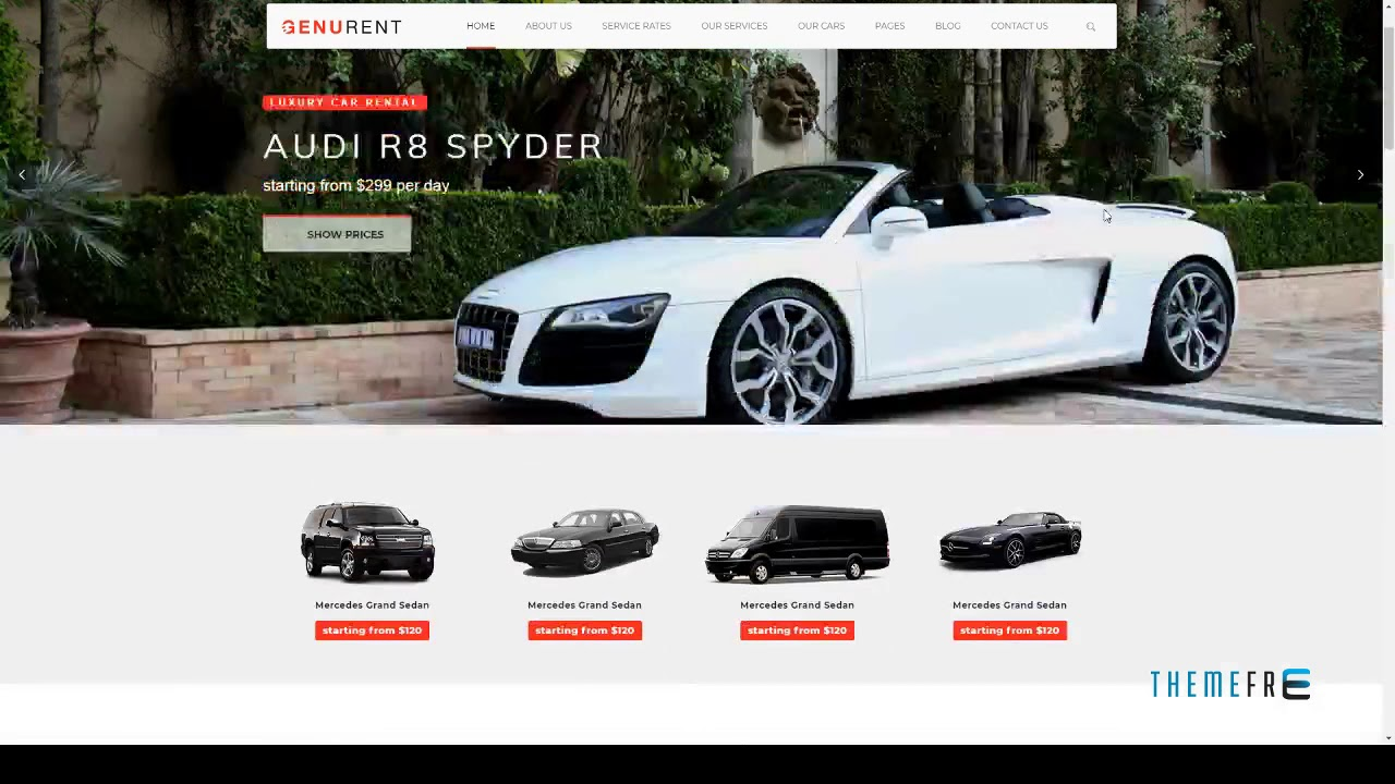 Genurent Transport And Car Hire Wordpress Theme Free Templ Youtube