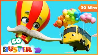 Hot Air Balloon Trouble - Buster and Friends to the Rescue | Go Buster | Baby Cartoons | Kids Videos