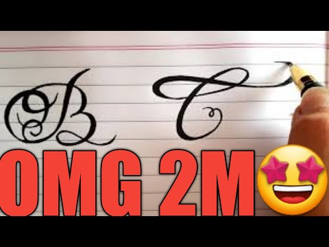 Calligraphy How To Draw Fancy English Capital Letters For Beginners Part 1