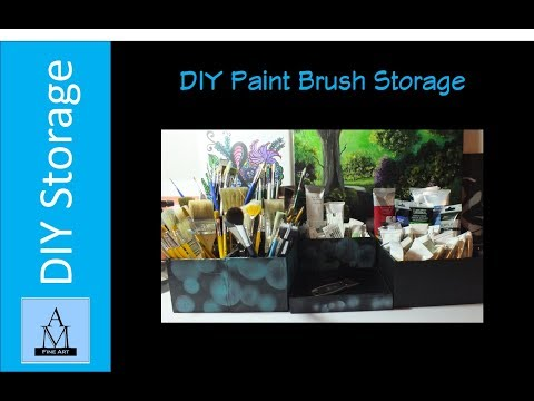 DIY Paint Brush Storage Boxes