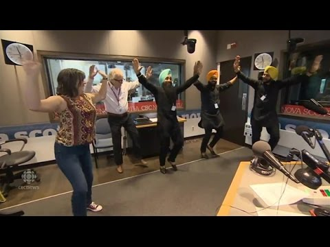 Halifax morning show  hosts get a dance lesson from Maritime Bhangra Group