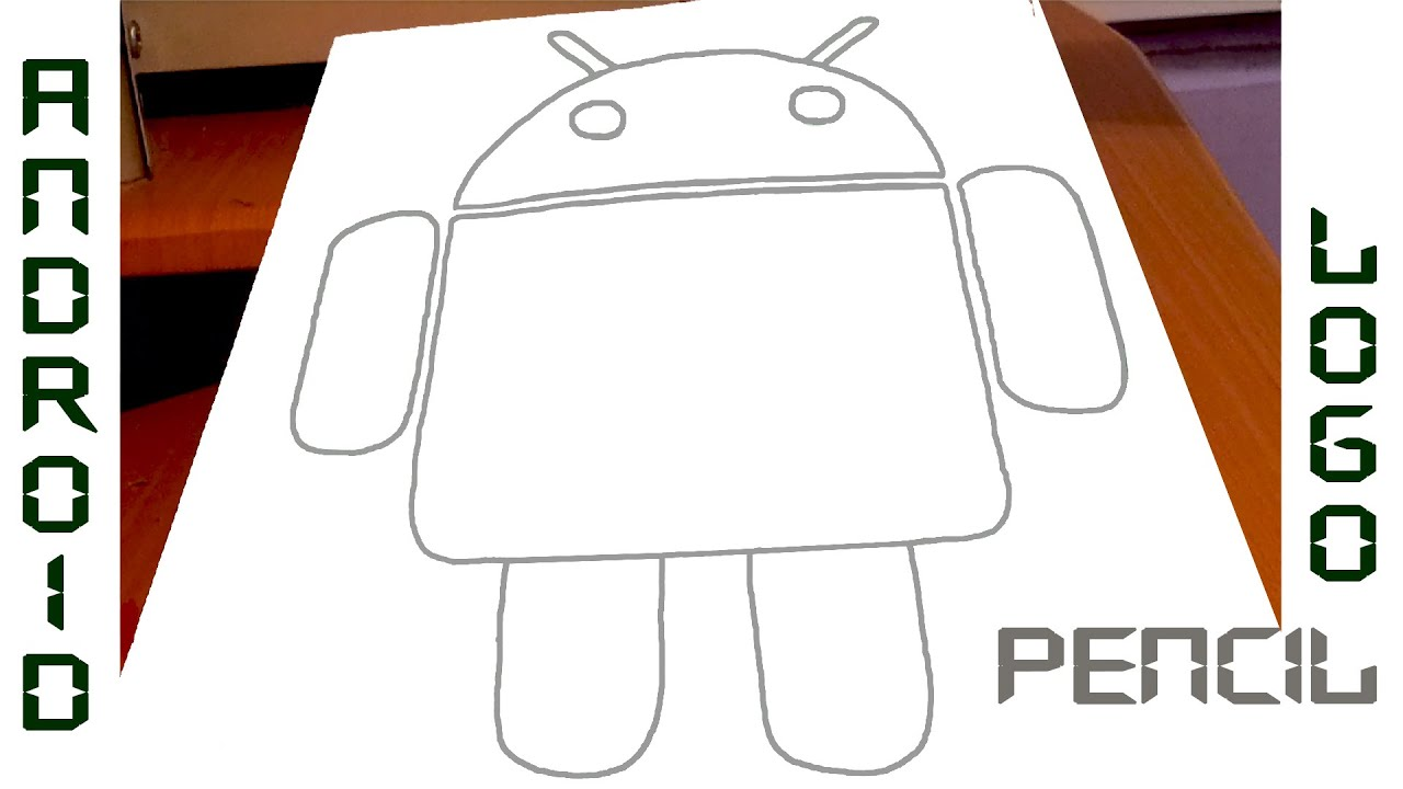 How to Draw ANDROID Logo Robot STEP BY STEP EASY | PENCIL TUTORIAL |  #MrUsegoodART