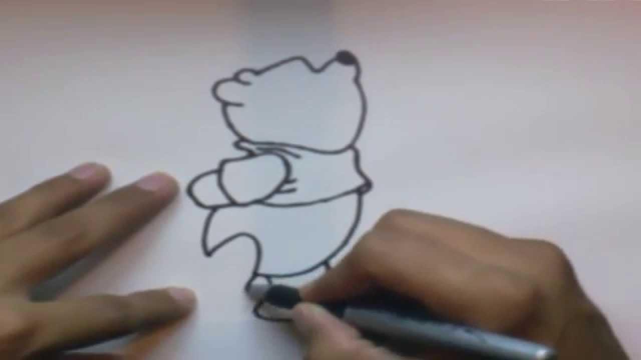 Como dibujar a Winnie Pooh l How to draw Winnie Pooh - YouTube