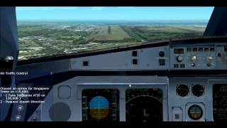 """FS2004 Realistic Chennai to Singapore with singapore airlines"""