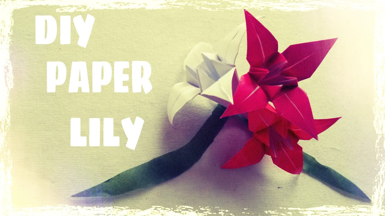 Origami Easy - Origami Lily FLower - YouTube - photo#30