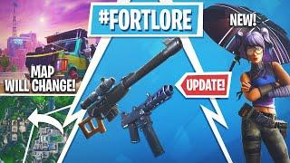 Atualização do Fortnite! Todos temporada X vazamentos, skins e emotes, mudando mapa!