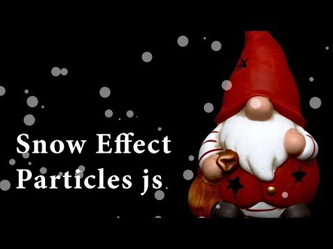 How to Use Particles JS | Snow Effect by Particle JS | JavaScript Animated Background