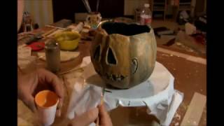 How to make a paper mache Trick Or Treat Basket for Halloween