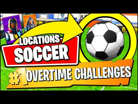 SCORE A GOAL ON AN INDOOR SOCCER PITCH LOCATION & REWARDS (Fortnite OVERTIME Challenges Season 9)