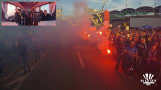 Empfang des Mannschaftsbusses im Cup-Halbfinale | Aussen