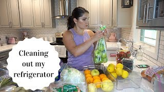 CLEANING OUT & ORGANIZING MY REFRIGERATOR | Clean with me