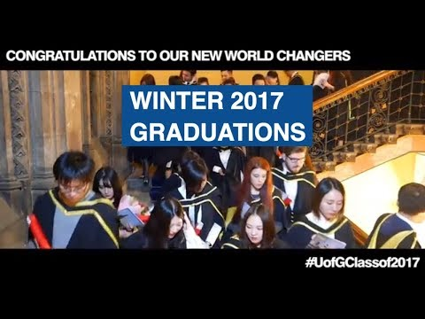 Winter Graduations for the College of Social Sciences at the University of Glasgow