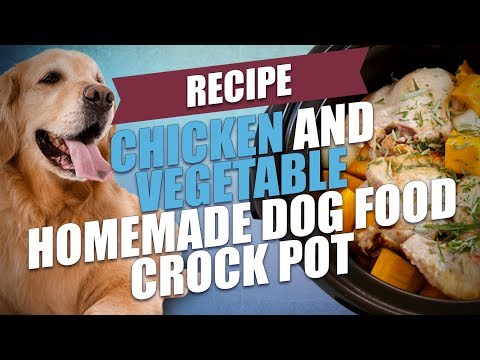 Chicken And Vegetable Homemade Dog Food Crock Pot Recipe