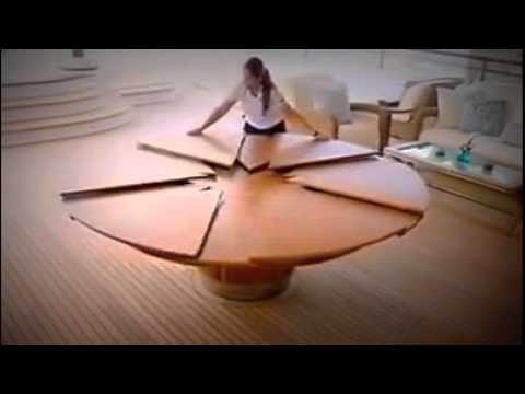 Expandable Round Dining Table expandable round dining table is very amazing - youtube