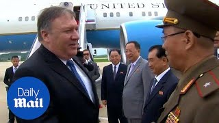 Pompeo arrives in Pyongyang for talks with North Korean officials