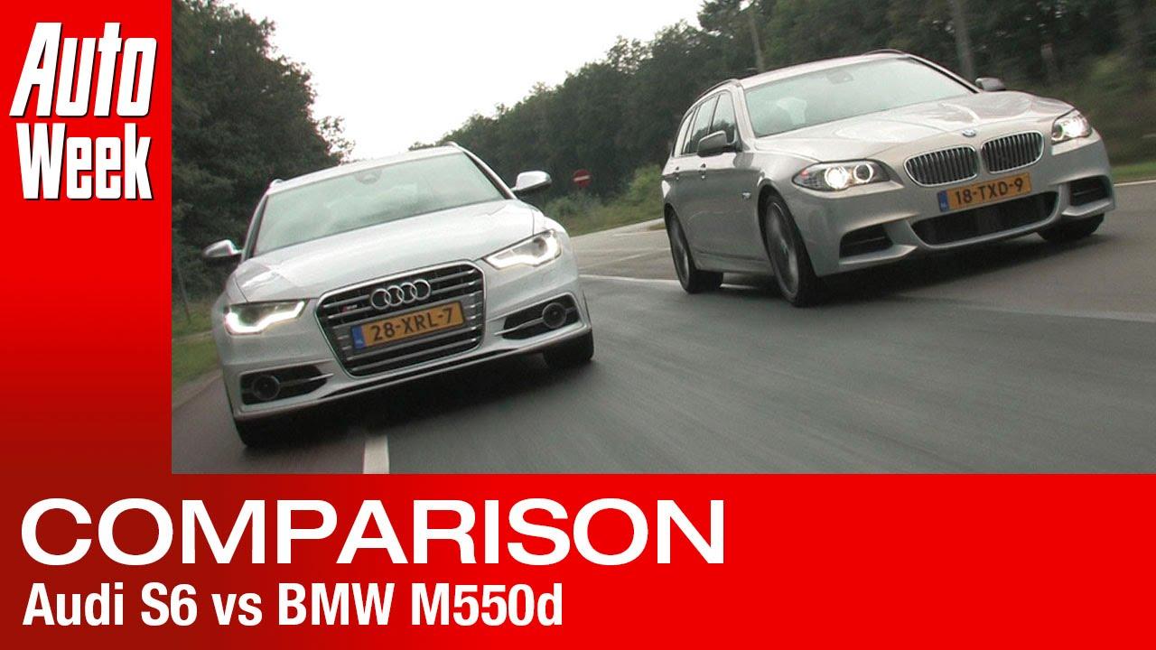 Audi S6 vs. BMW M550d - English subtitled - YouTube