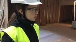 Tunnelmia Mansikkalan puukoulun rakennustyömaalta.