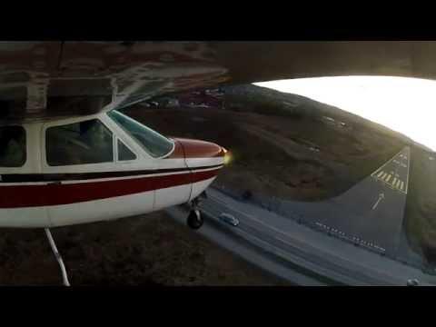 Nikita flying Cessna 177 Cardinal LN-NAE