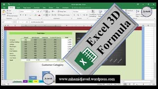 How to create a 3d formula in excel