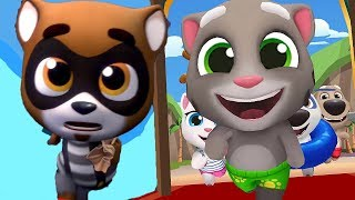 ГОВОРЯЩИЙ ТОМ АКВАПАРК #11 Анджела Хэнк Бен и Джинджер мультик игра видео для детей Talking Tom Pool