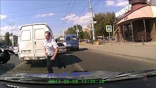 Волгоград. Пьяный лихач таранит автомобили и инспекторов