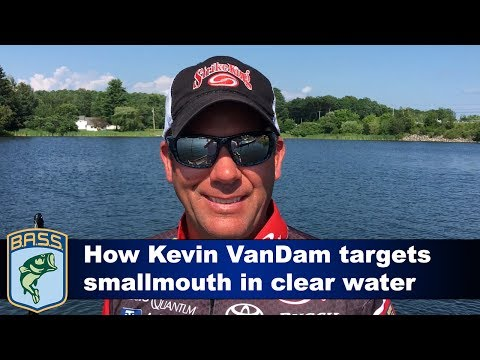 How Kevin VanDam targets smallmouth in clear water