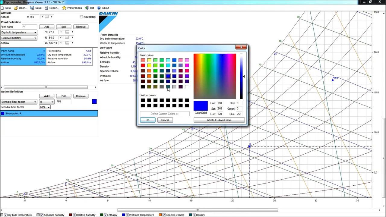 Daikin - Psychrometrics Diagram Viewer V335 (improvement) - YouTube