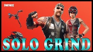 "NEW ""BIKER BRIGADE"" SKINS in FORTNITE - SOLO GRIND 