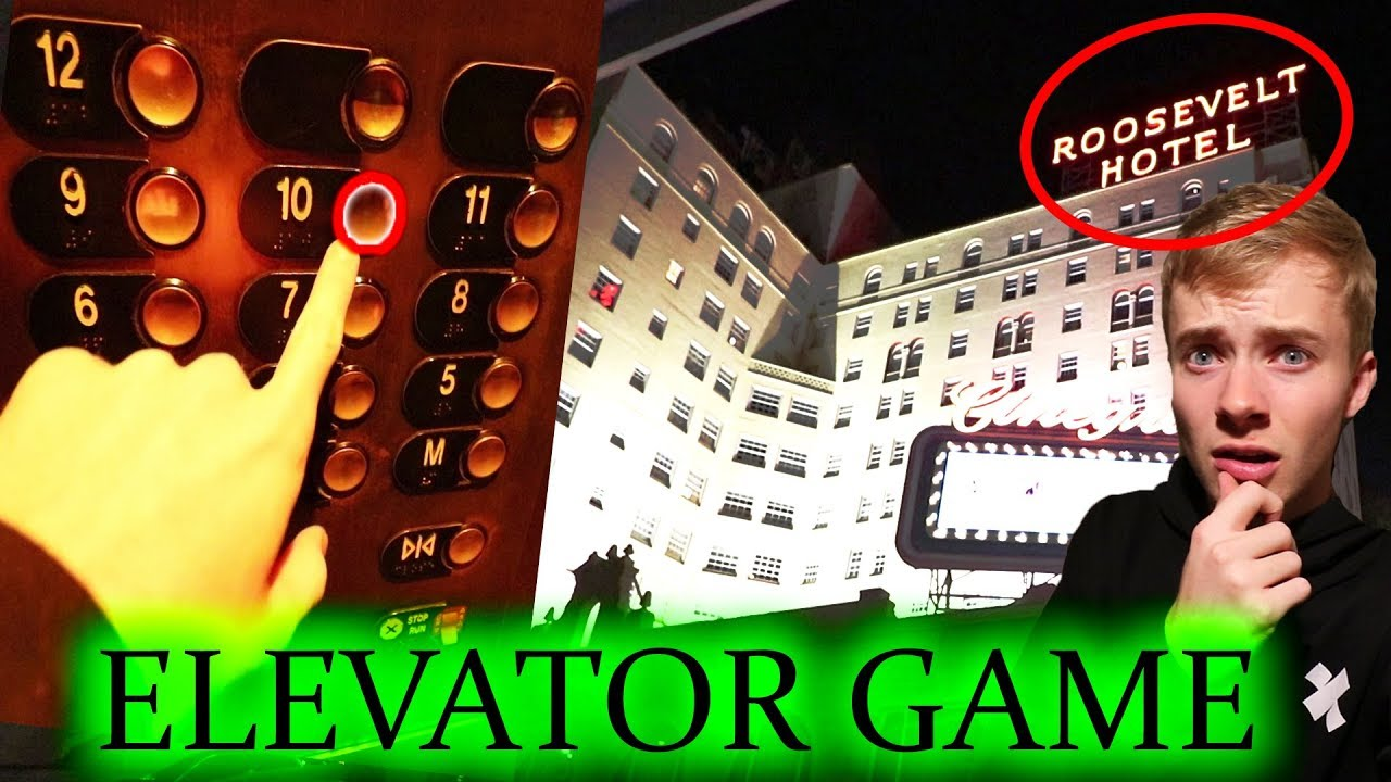 PLAYING THE ELEVATOR GAME in HAUNTED HOTEL | 3am CHALLENGE