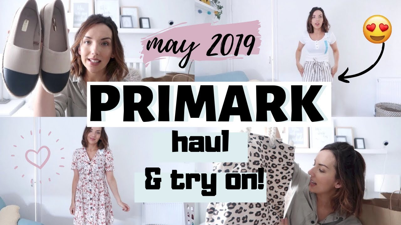 40080fb615 PRIMARK HAUL AND TRY ON | MAY 2019 | SPRING PRIMARK HAUL - YouTube