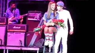 One less lonely girl, he ALMOST kiss her.