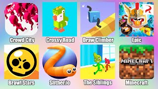 Minecraft Brawl Stars Crowd City Angry Birds Epic Slither.io The Siblings 2020 БРАВЛ СТАРС СЛИЗАРИО