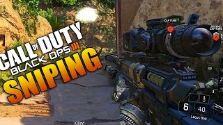 Black Ops 3 SNIPING GAMEPLAY! Locus Bolt Action Sniper (Call of Duty BO3 Multiplayer Online)