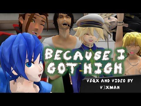 【All English Male Vocaloids�use I Got High【VOCALOIDカバー曲】+ VSQx