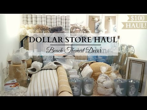 Dollar Store Haul! $100 Dollar Tree & 99 Cent Store Haul! BEACH Themed DIY & Decor Items!