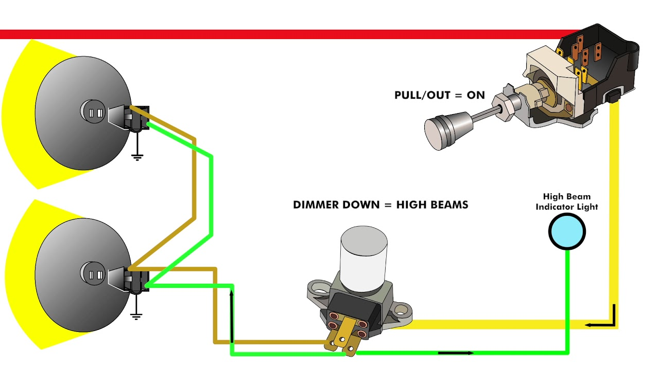 How to Wire Dual Headlights H Headlight Wiring Diagram on