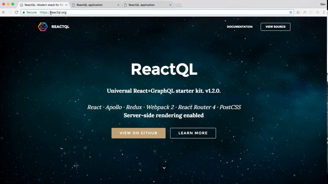 ReactQL - Starter kit for React+GraphQL
