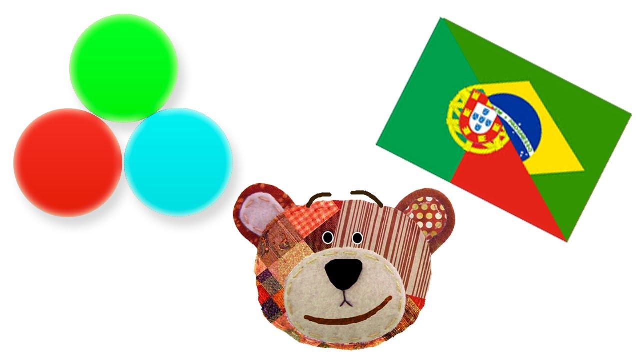 Los colores - Actividades en portugués para niños