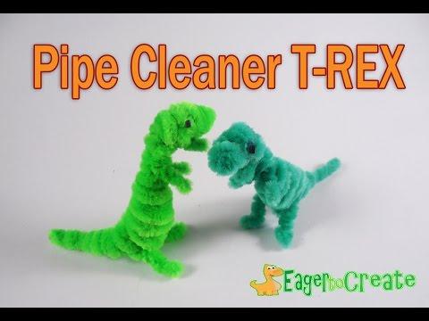 Pipe Cleaner Crafts - Dinosaur TRex