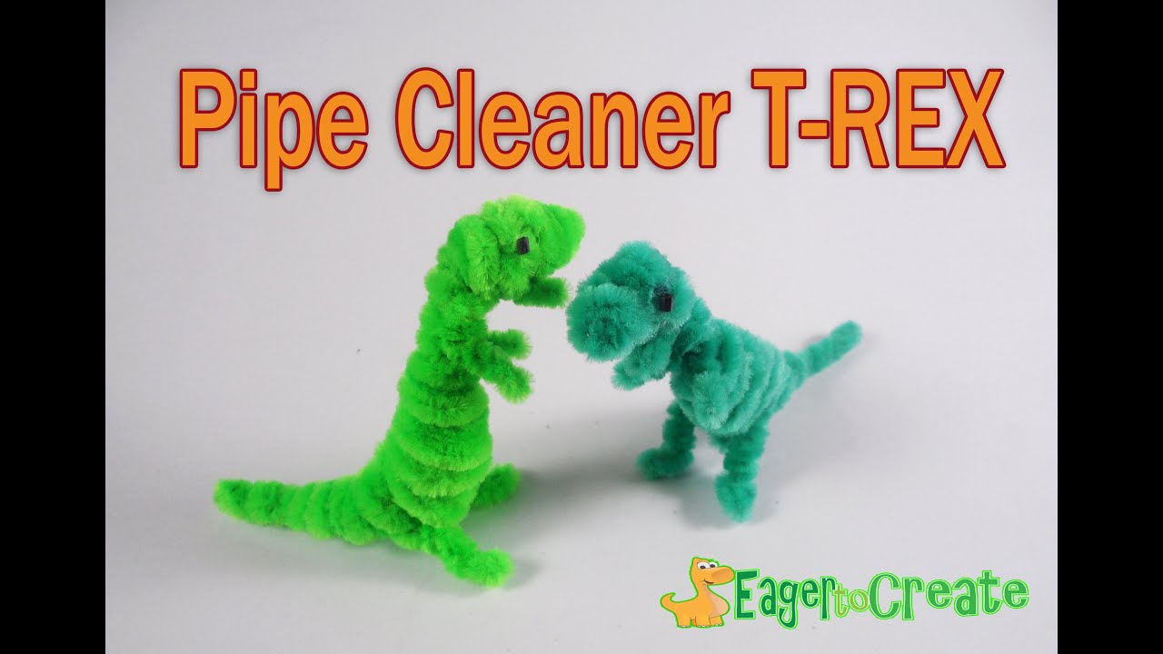Pipe Cleaner Crafts - Dinosaur TRex - YouTube