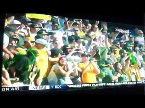 The Oakland Athletics Win 2012 AL West Division!!