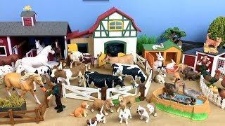 Farm Animals For kids- Review toys Animals Donkey Horse Goat Duck Cow - Lot of Toys