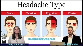 STOP HEADACHES: #Migraines Tension, Cluster, Sinus. - Jody Summers Health Kindness