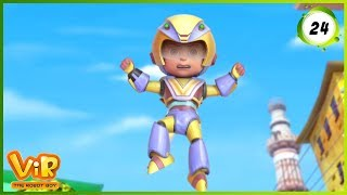 Vir: The Robot Boy | Vir Vs Dangerous Seven Part 1 | Action Show for Kids | 3D cartoons
